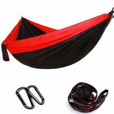 Outdoor Double Hanging Bed Sleeping Swing Portable Travel Hiking Camping Hammock