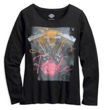 Harley-Davidson Women's Distressed Graphic Let's Ride Long Sleeve Tee 96055-18VW
