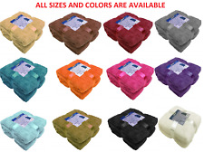 Large Soft Warm Fleece Cuddly Teddy Throw Sofa Double King Bed Blanket All sizes