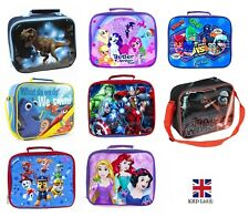 Kids INSULATED LUNCH BAG Box Pack Childrens Boys Girls School Food Picnic NEW UK