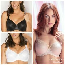 Pour Moi Body Comfort 3814 Black, White and Oyster Side Support Bra 32-44 B-FF