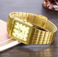 Top Luxury Gold Golden Quartz Watch men women Watches Wrist Watches ladies watch