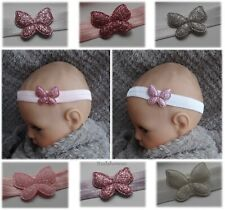 Glitter Butterfly baby headband hairband soft different sizes 1st class post