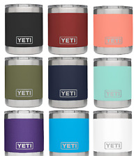 YETI Rambler 10oz Vacuum Insulated Stainless Steel Lowball Lid Olive Green /Blue