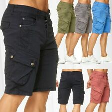 61e8d1c3c287 Men s Bermuda Cargo Chino Shorts Stretch Jeans Short Capri Pants Summer  Vintage