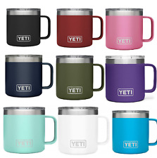 YETI Rambler 14 oz Stainless Steel Vacuum Insulated Mug with Lid Cold Hot Coffee