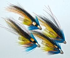 3 AURORA WILLIE GUNDOGS CONEHEAD SALMON FLIES BY  TEVIOTFLIES TOP PATTERNS