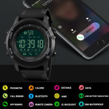 SKMEI Men's Bluetooth Smart Watch Alarm Date Digital Sports Watches Waterproof