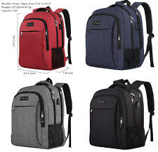 Laptop Backpack,Business Anti Theft with USB Charging Port, Water Resistant Trav
