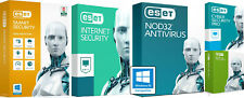 ESET SMART SECURITY PREMIUM, INTERNET SECURITY, NOD32 1/2/3 YEAR 3PC EMAIL DELIV