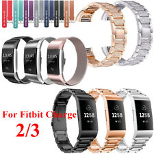 For Fitbit Charge 2 3 Watch Strap Wrist Band Stainless Steel Crystal Classic UK