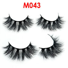 Ladies 5D Mink Eyelashes Long Extension Natural Look False Lashes Eye Comestic