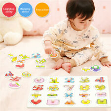 Kids Children Wooden Cognition Board Montessori Educational Boy Girl Puzzle Toy