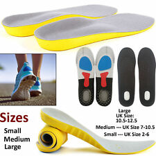Boots Shoe Insoles Unisex Foot Heel Gel Inserts Pads Orthotic Arch Support Feet