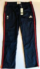 Adidas Womens Blue Team GB Tracksuit Pants Olympic Podium Presentation Red Zip
