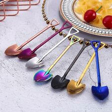 Colorful Spoon stainless steel Handle Spoons Flatware Ice Cream Drinking Tools