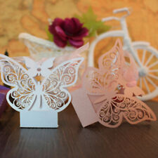 50Pcs Hollow Butterfly Favor Ribbon Gift Box Candy Boxes Wedding Party Decor