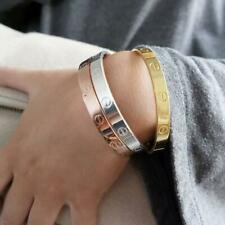 LOVELY CLASP CLOSE SCREW EMBOSSED BRACELET/BANGLE SILVER, GOLD, ROSE GOLD