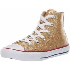 21880d3977e2 Converse Chuck Taylor All Star Shine Silver Synthetic Youth Trainers ...
