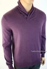 POLO RALPH LAUREN Mens Shawl Collar Pullover Merino Wool Sweater Ribbed Pony NWT