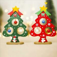 Christmas Table Decoration Mini Wooden Christmas Tree on Wooden Stand