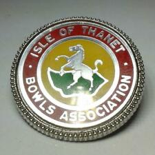 Bowling Badges H and I Free postage in the UK only
