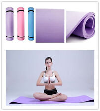 """BLUE 6mm Thick Non-Slip Yoga Mat Exercise Fitness Lose Weight 68""""x24""""x0.24""""  Z8"""