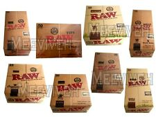 1 x BOX RAW ROLLING KING SIZE SLIM ROLLING PAPERS & TIPS FULL BOX ORIGINAL