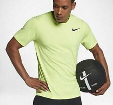 df96fc4c438f2 NIKE BREATHE MEN TRAINING DRI FIT SHORT SLEEVE TOP - FLUORESCENT 832864-703  2XL
