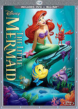 The Little Mermaid (Diamond Edition- Blu-ray/DVD) Very Good, Free Shipping.