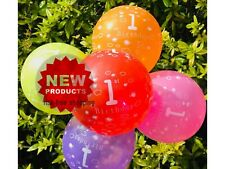 First 1st Birthday Number 1 Boy Girl Balloons Baby Party Decoration first number