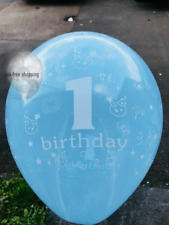 First Happy Birthday Number 1 Boy Girl Pink Blue Balloons Baby Party Decoration