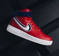 NIKE AIR FORCE 1 HIGH '07 LV8 GYM RED BLUE 806403603 MEN'S SHOES 100% AUTHENTIC