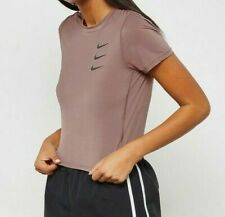 NIKE WOMEN UTILITY RUN DIVISION CROPPED RUNNING TOP - MAUVE AO4098-259 - S M L