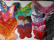 Sequined Butterfly Iron On Appliqué/ Patches choose pattern, size & colour