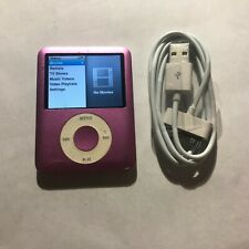 Apple iPod Nano 3rd Generation Pink (8 GB) Bundle Tested Working
