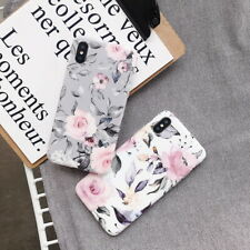 For iPhone XS Max XR 8 7 6S Plus Shockproof Marble Pattern IMD Soft Case Cover