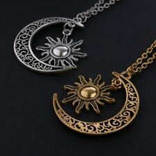 2019 Crescent Moon and Star Pendant Plating Silver Jewelry Necklace Women