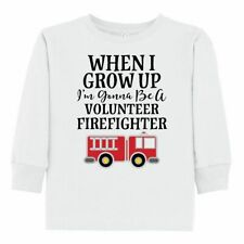 Inktastic Firefighter Volunteer Fireman Toddler Long Sleeve T-Shirt Fire Truck