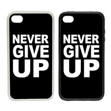 NEVER GIVE UP - Rubber or Plastic Phone Case #1 - Liverpool Salah Quote League