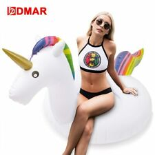 DMAR 75/90/110/160cm Inflatable Unicorn Giant Pool Float Toy Swimming Ring