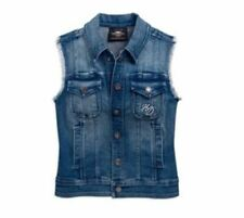 HARLEY-DAVIDSON - denim ladies flag vest