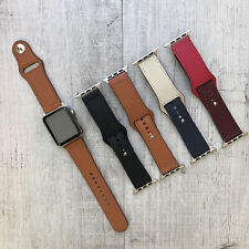 For Apple Watch Series 4 3 2 1 38/40/42/44mm PU Leather Replacement Band Strap