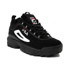 NEW Mens Fila Disruptor II Premium Athletic Shoe Black White Red 2