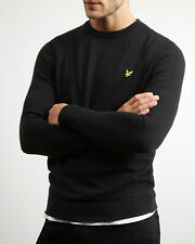 Lyle & Scott Men's Cotton Merino Crew Neck Jumper True Black