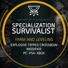 The Division 2 Survivalist Specialization Unlock Boosting Service PC/PS4/XBOX