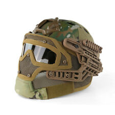 Tactical Airsoft Protective FAST Helmet G4 System Full Face Mesh Mask Goggle