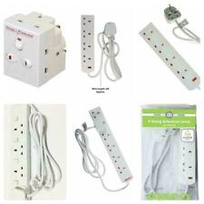 Pifco 2 4 6 Gang Extension Lead 1m 2m 5m SWITCHED Surge Cable Socket Mains Plug