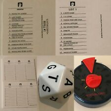 Scattegories Board Game REPLACEMENT Parts Pieces Choice Cards Score Pad Timer