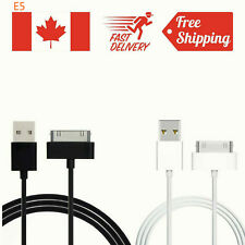 30 Pin USB Data Sync Tablet Charger Cable iPhone 4 4S 3G 3GS iPod Nano Mini Pad